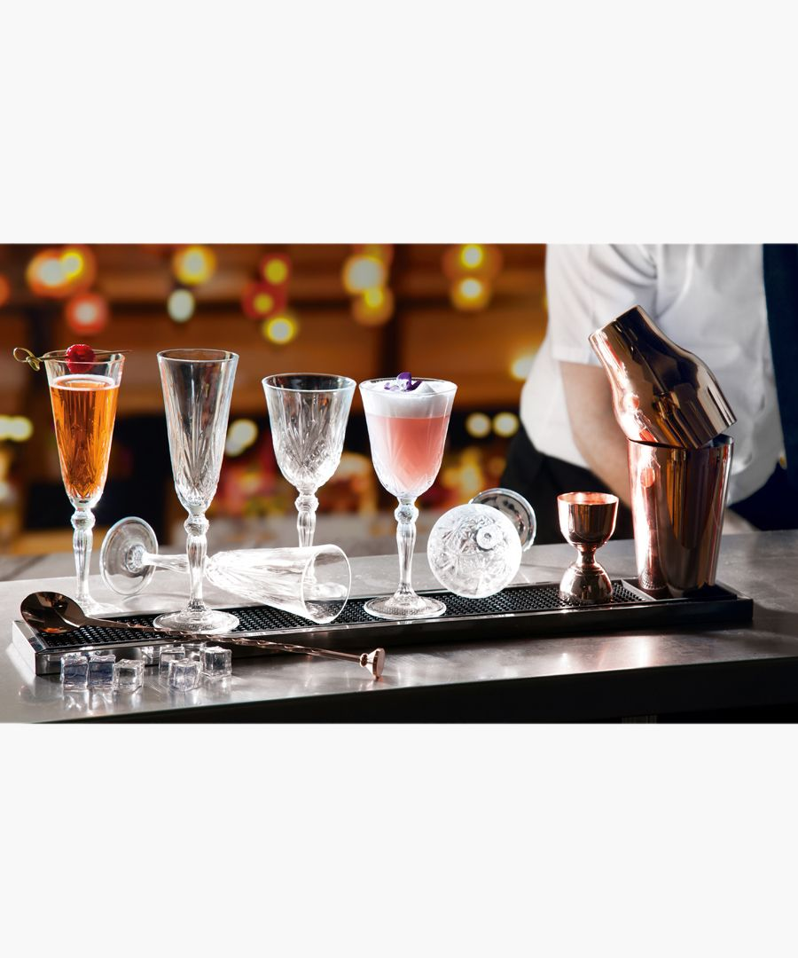 12pc Melodia Crystal wine glasses and champagne flutes set