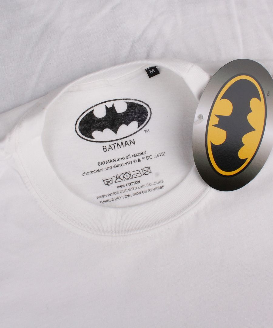 Batman white cotton T-shirt