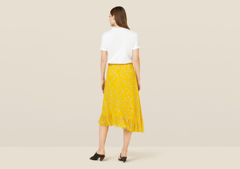 Ebba Turmeric Floral Skirt - Yellow