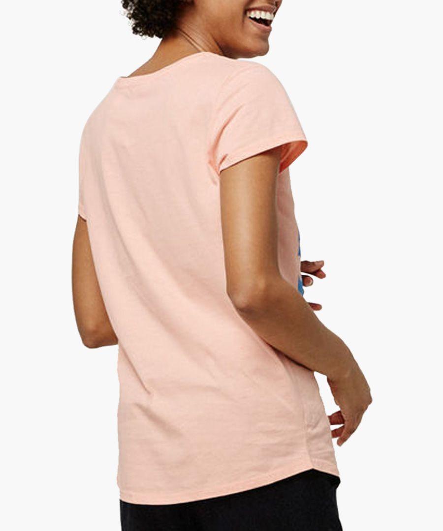 Blush pure cotton graphic T-shirt