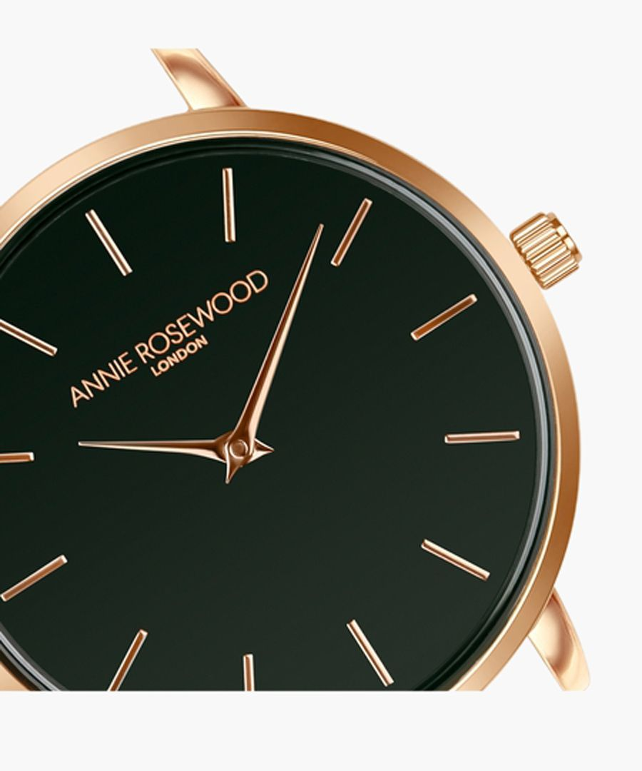 Rose gold-tone and graphite watch