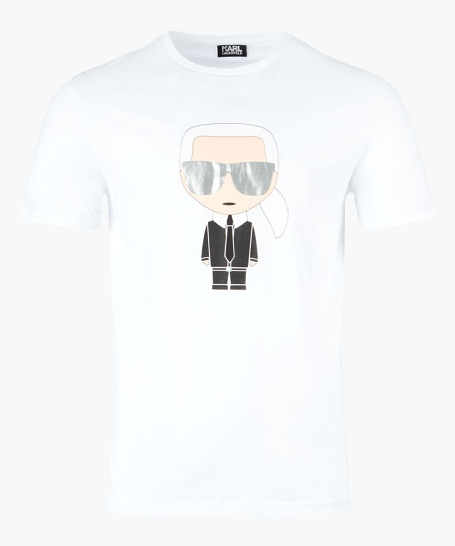 White logo motif T-shirt