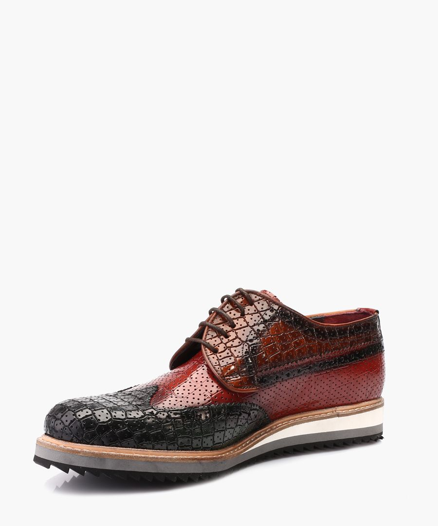 Green leather Derby shoes