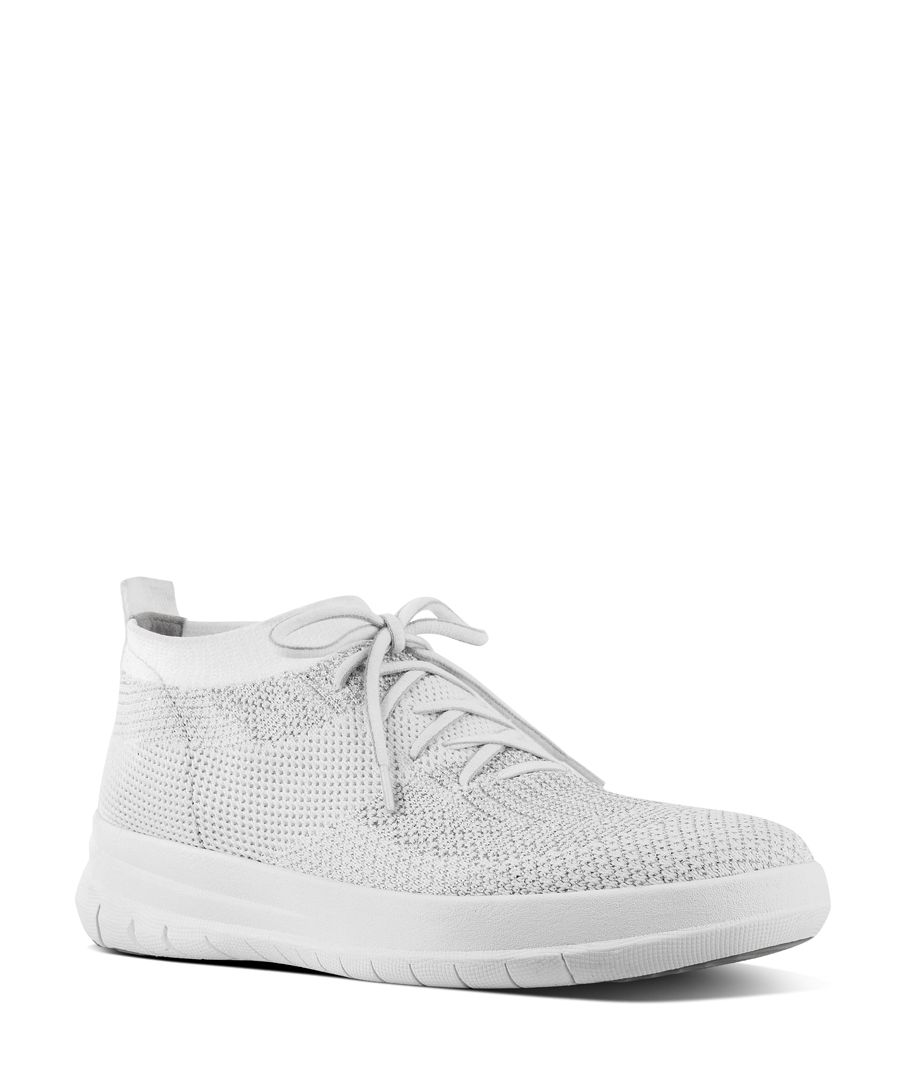 Uberknit urban white slip-on trainers