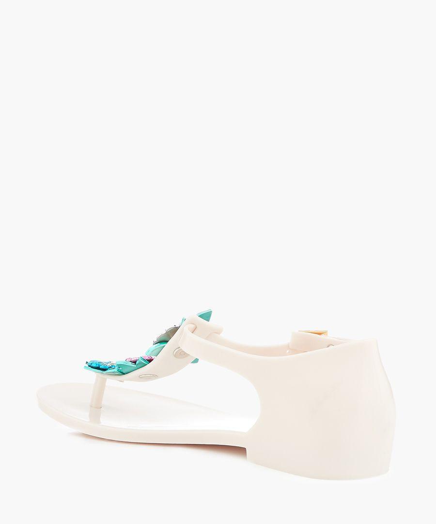Honey Nature white floral sandals