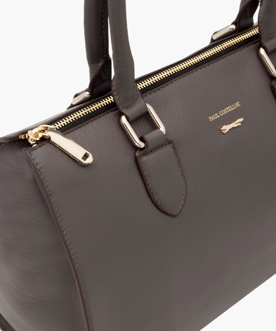 Matera brown leather shopper