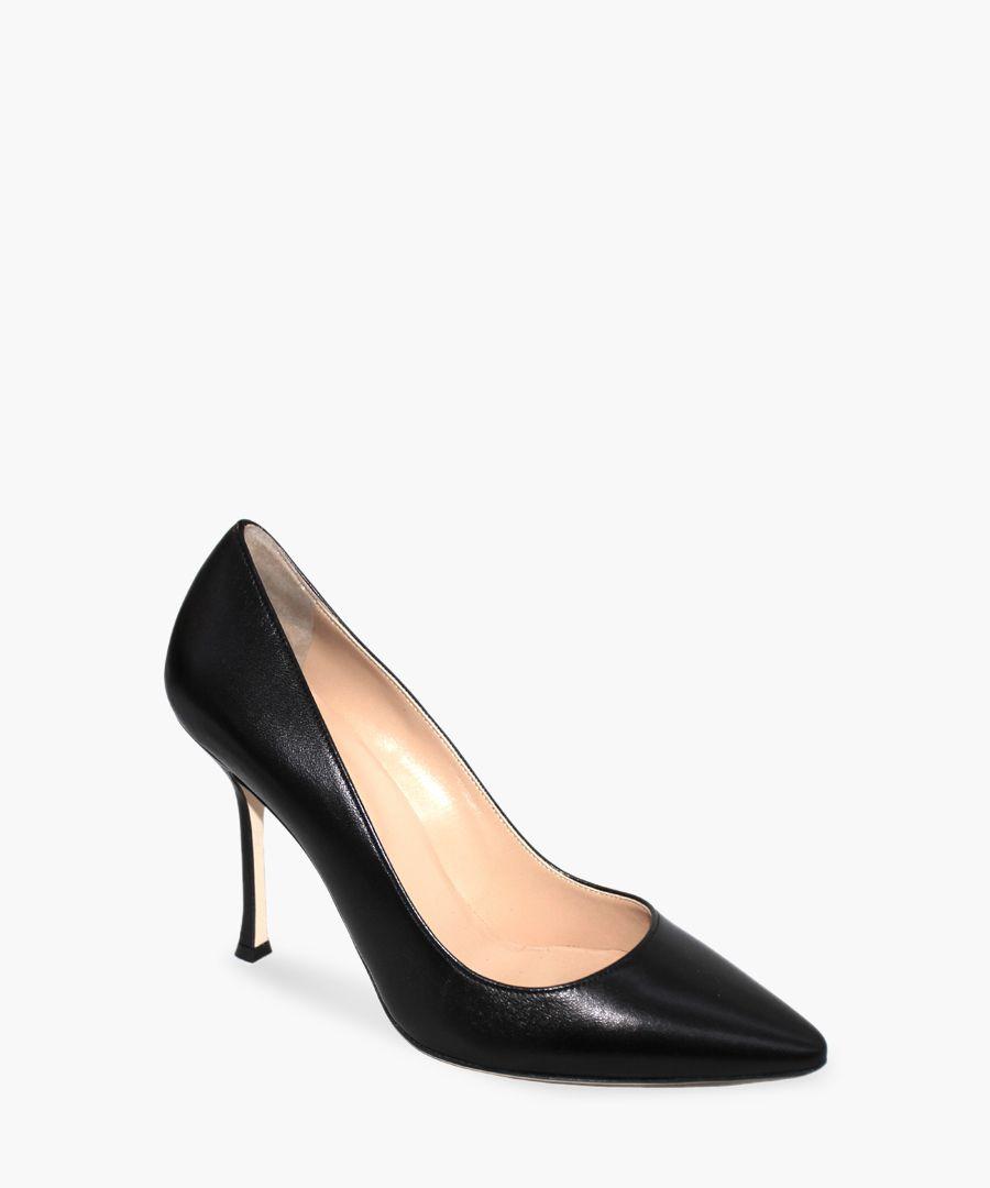 Nappa Chic black leather court heels