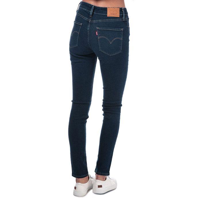 Women's Levis 721 High Rise Skinny Jeans in Dark Blue