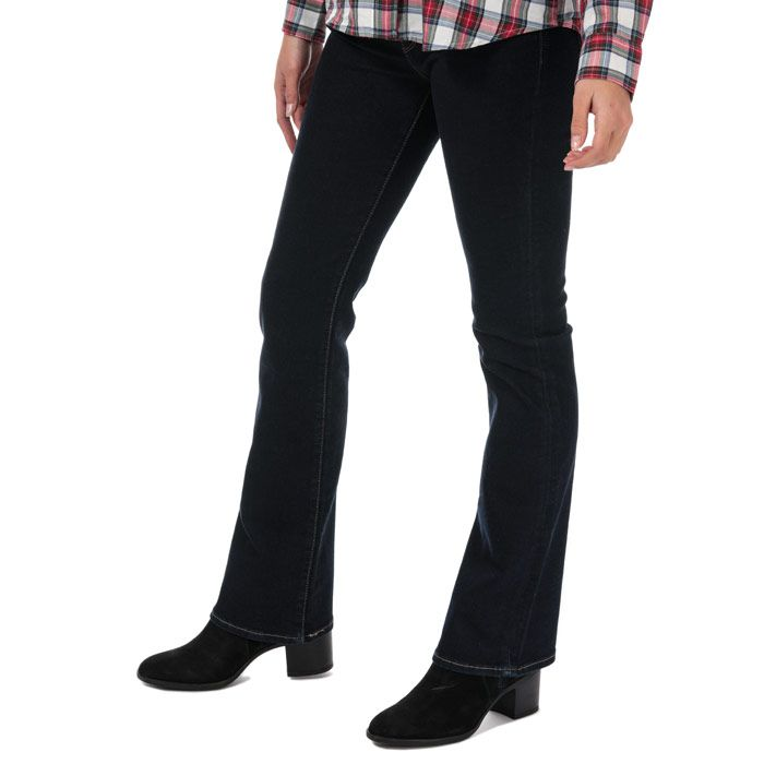Women's Levis 715 Bootcut To The Nine Jeans in Dark Blue