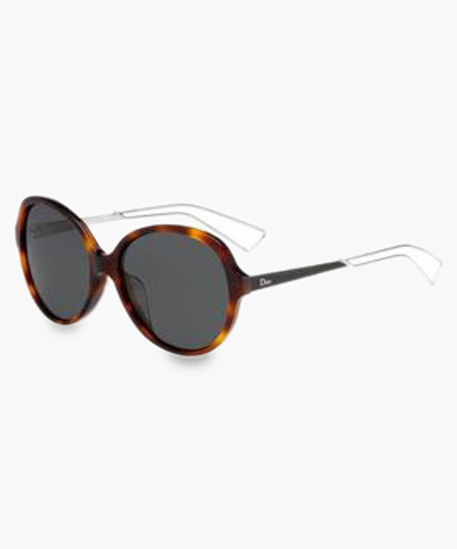 Havana rounded sunglasses