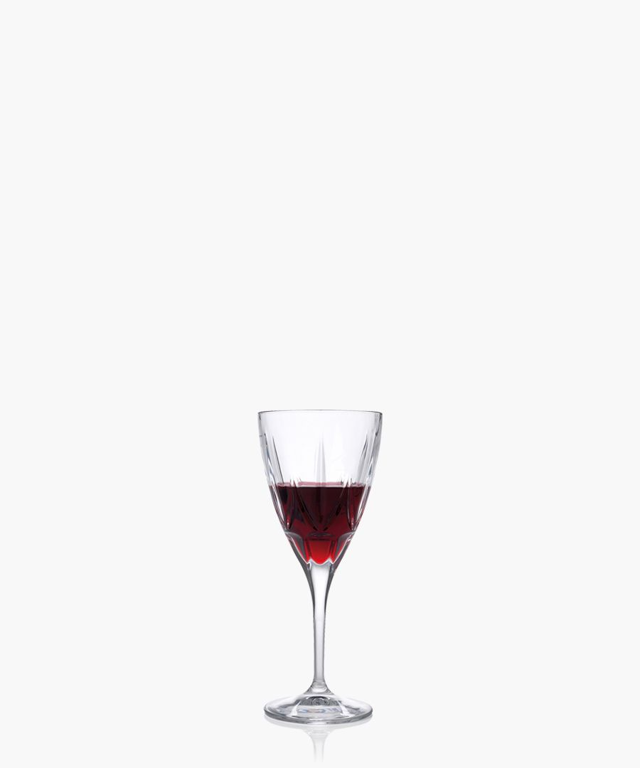 6pc Chic Luxion Crystal red wine glasses 360ml