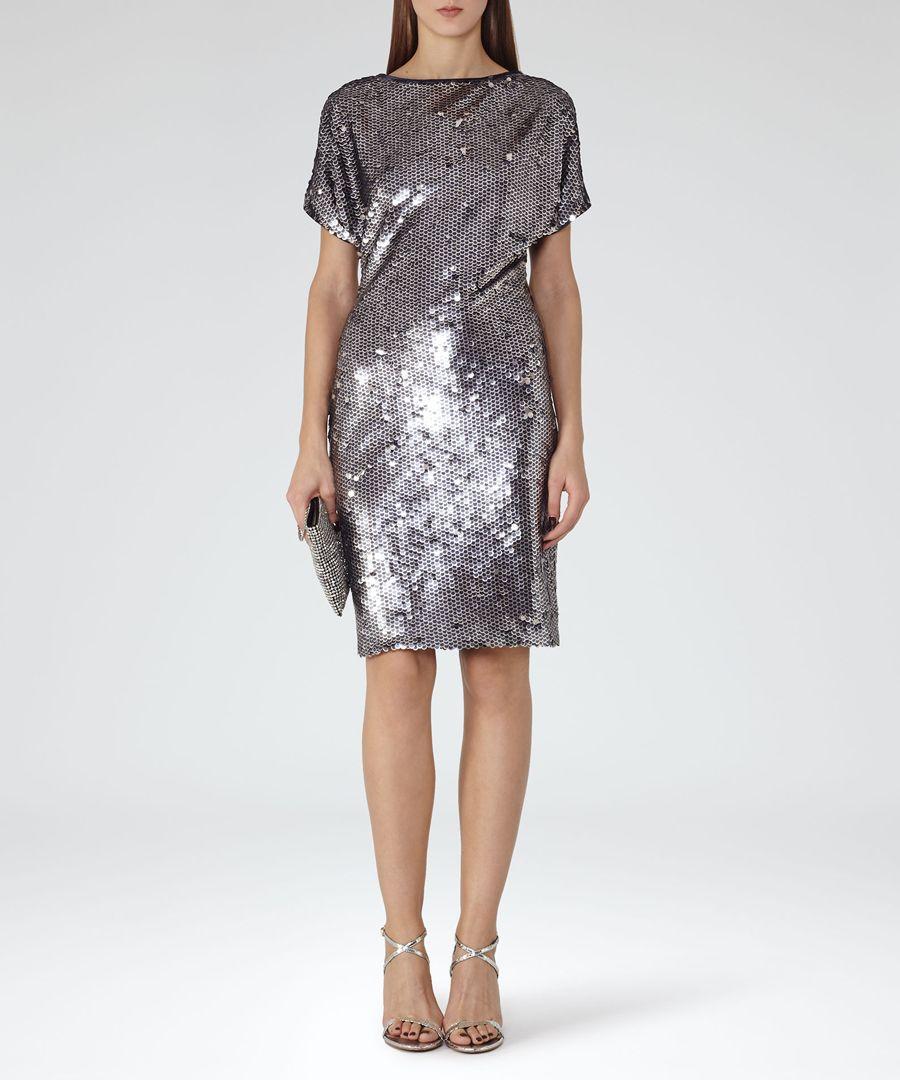 Women's Teresa silver sequin dress
