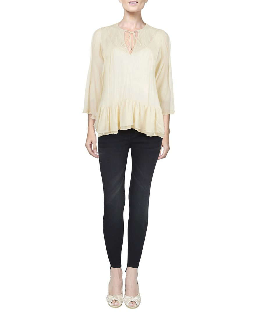 One Night white long sleeve top