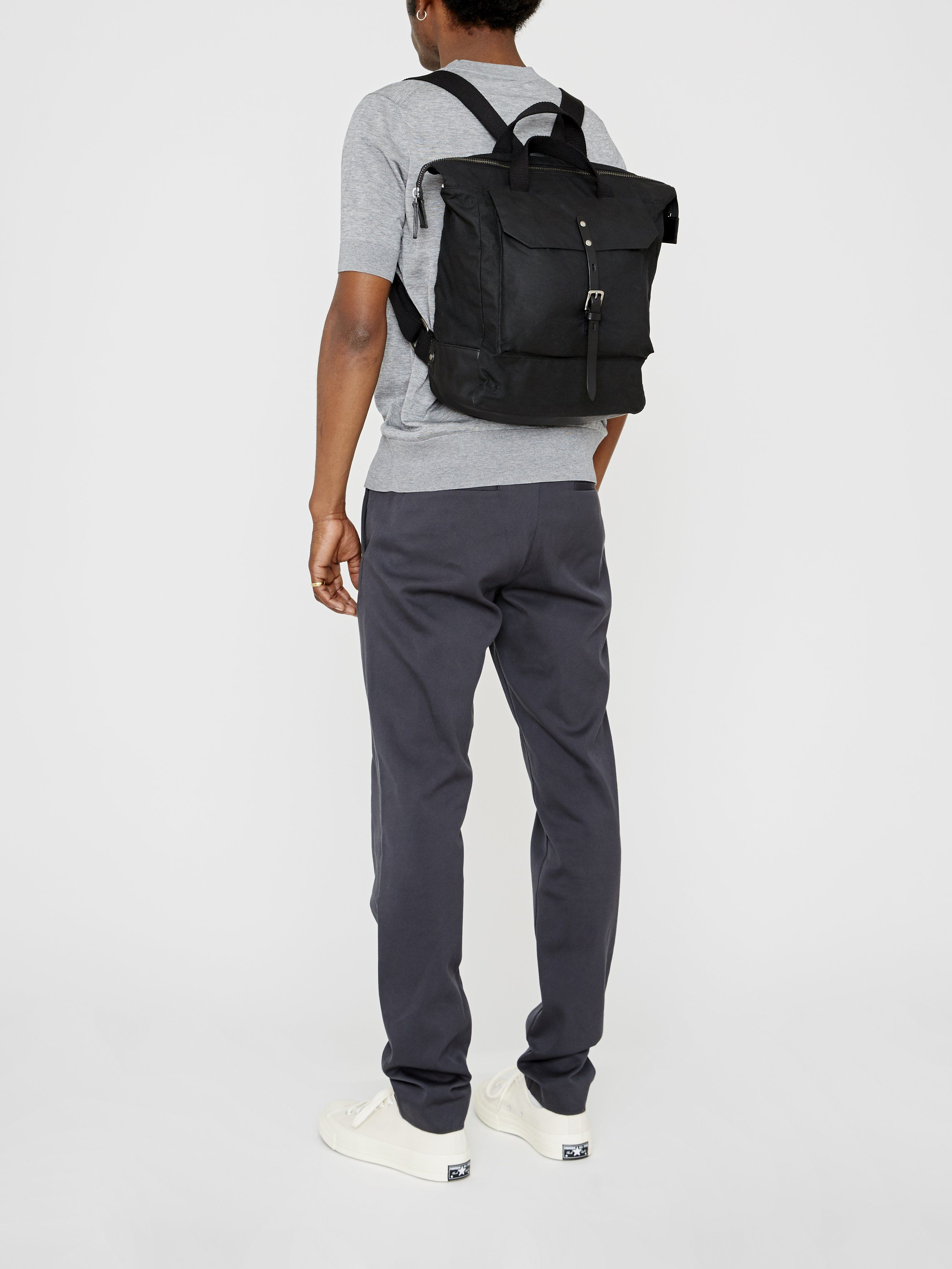 Frances Waxed Cotton Rucksack in Olive