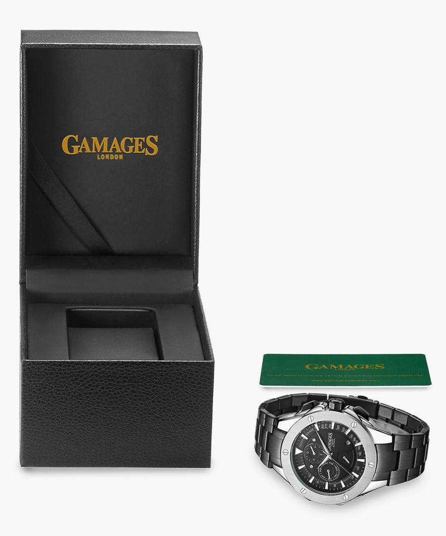 Limited Edition hand-assembled Sports Calendar Automatic steel watch