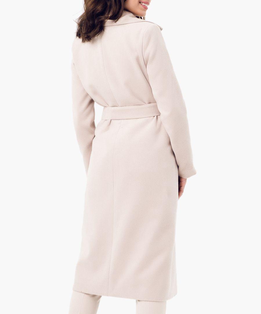 Beige wool blend coat