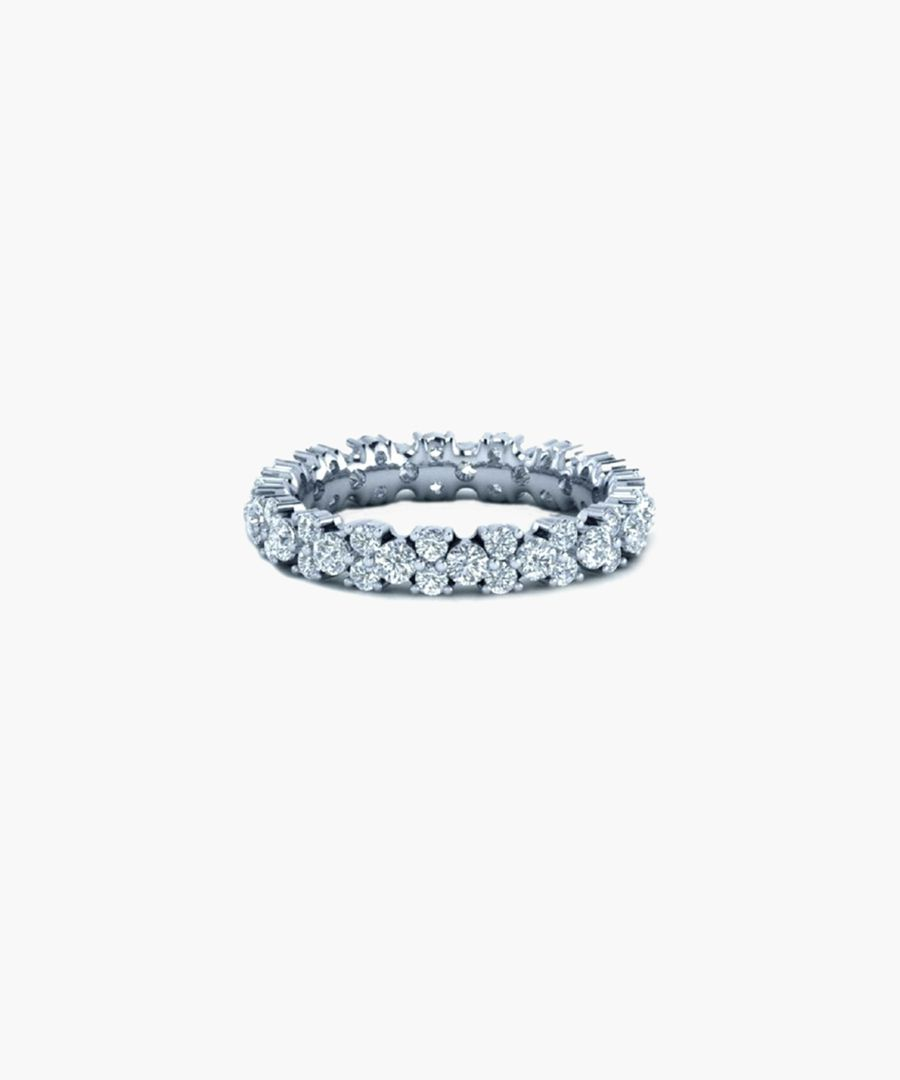 9k white gold eternity ring