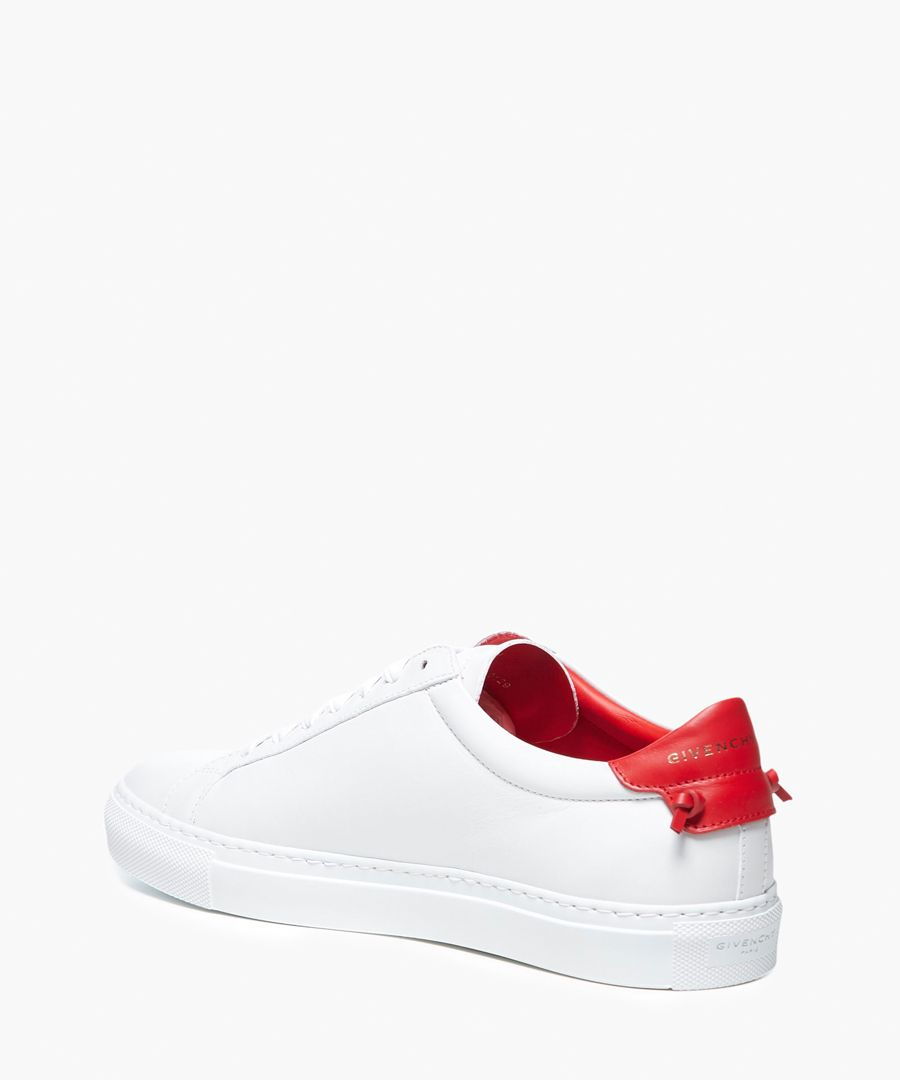 Urban Street white leather trainers