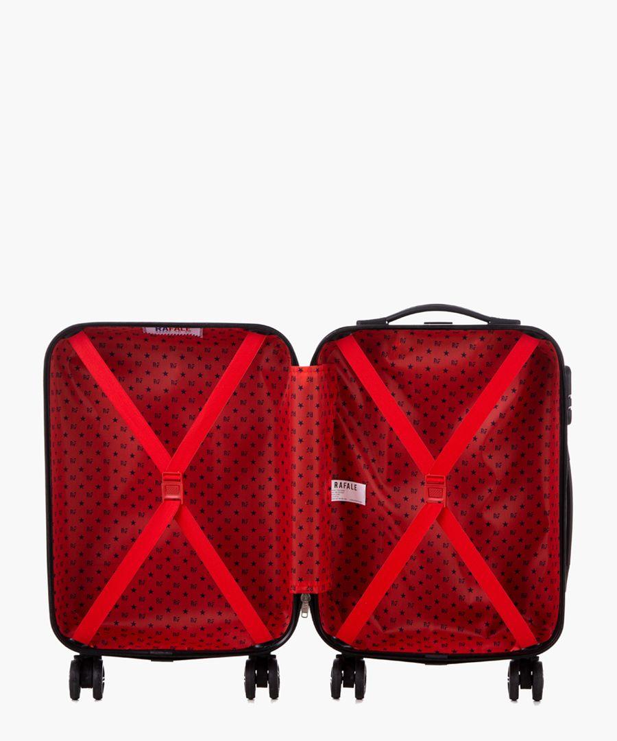 Beige cabin spinner suitcase