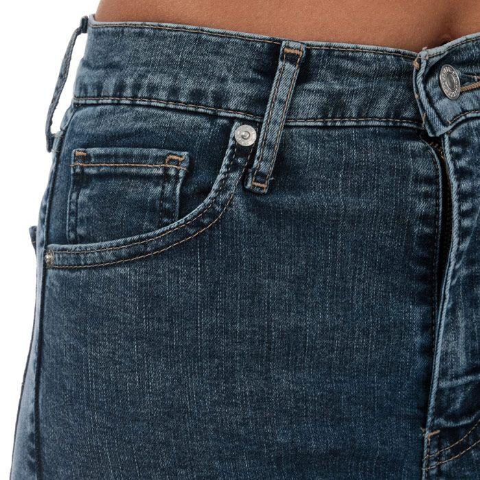 Women's Levis Mile High Super Skinny Jeans in Denim