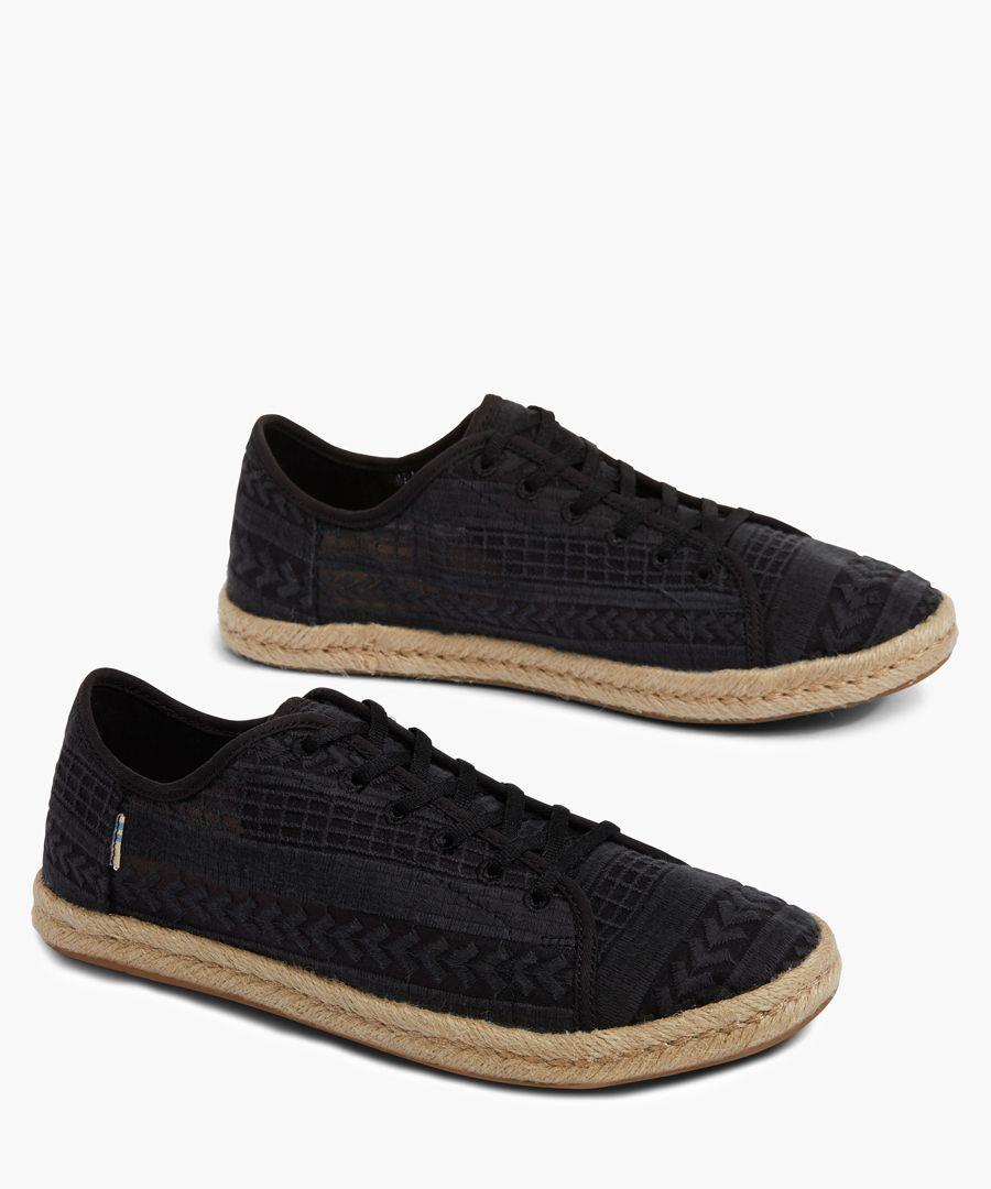 Lena black canvas shoes