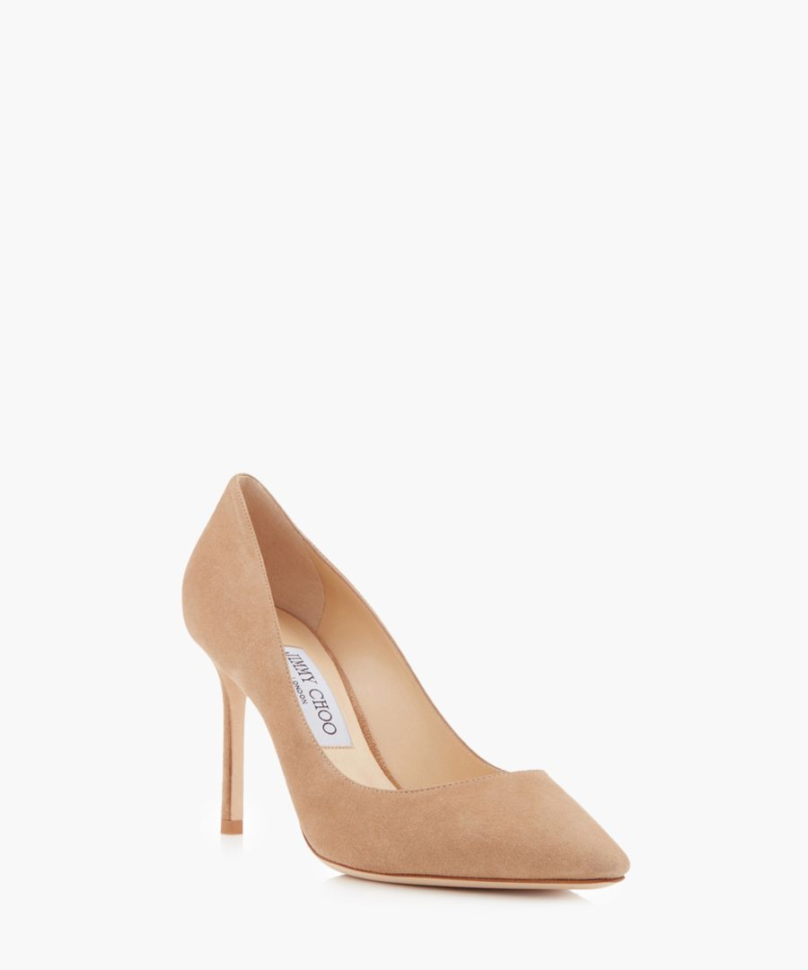 Romy nude suede stiletto heels