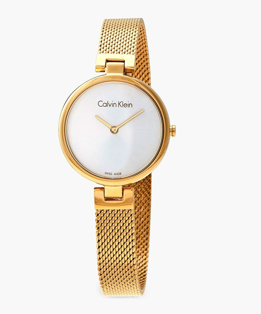 Gold-plated and white watch