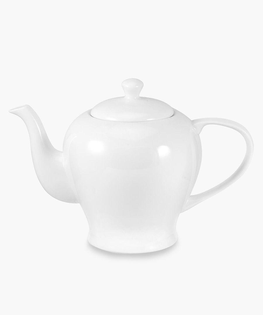 Serendipity plain white bone china teapot