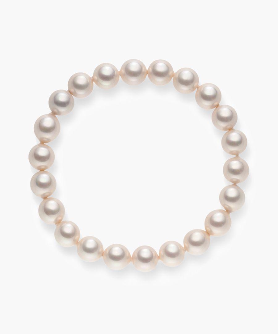 Pink organic pearl bracelet