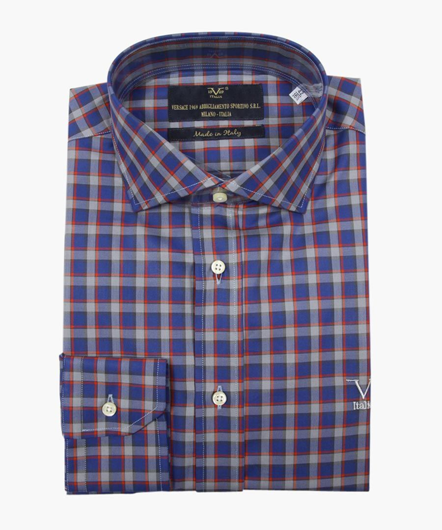 Red pure cotton classic collar shirt