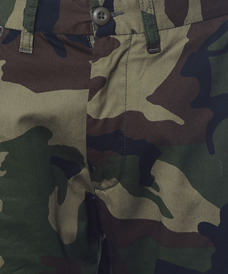 Johnson green camo shorts
