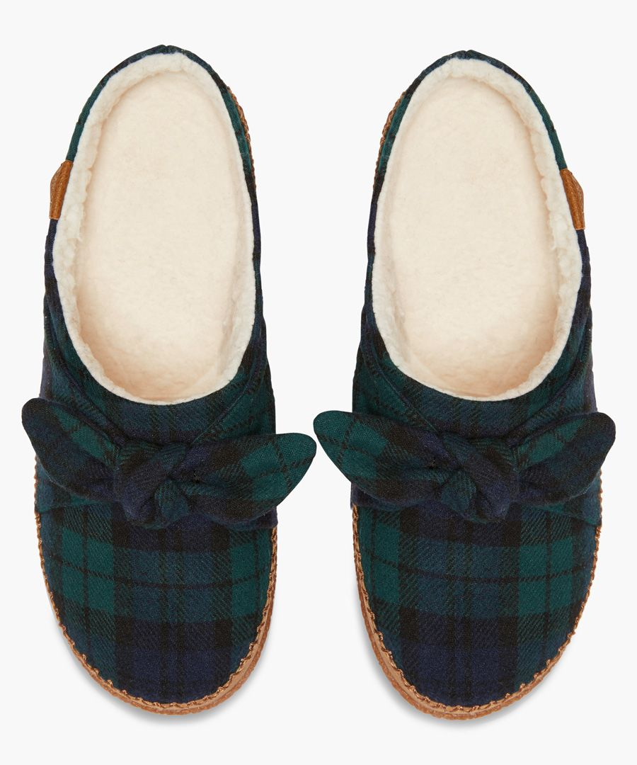 Ivy green slippers