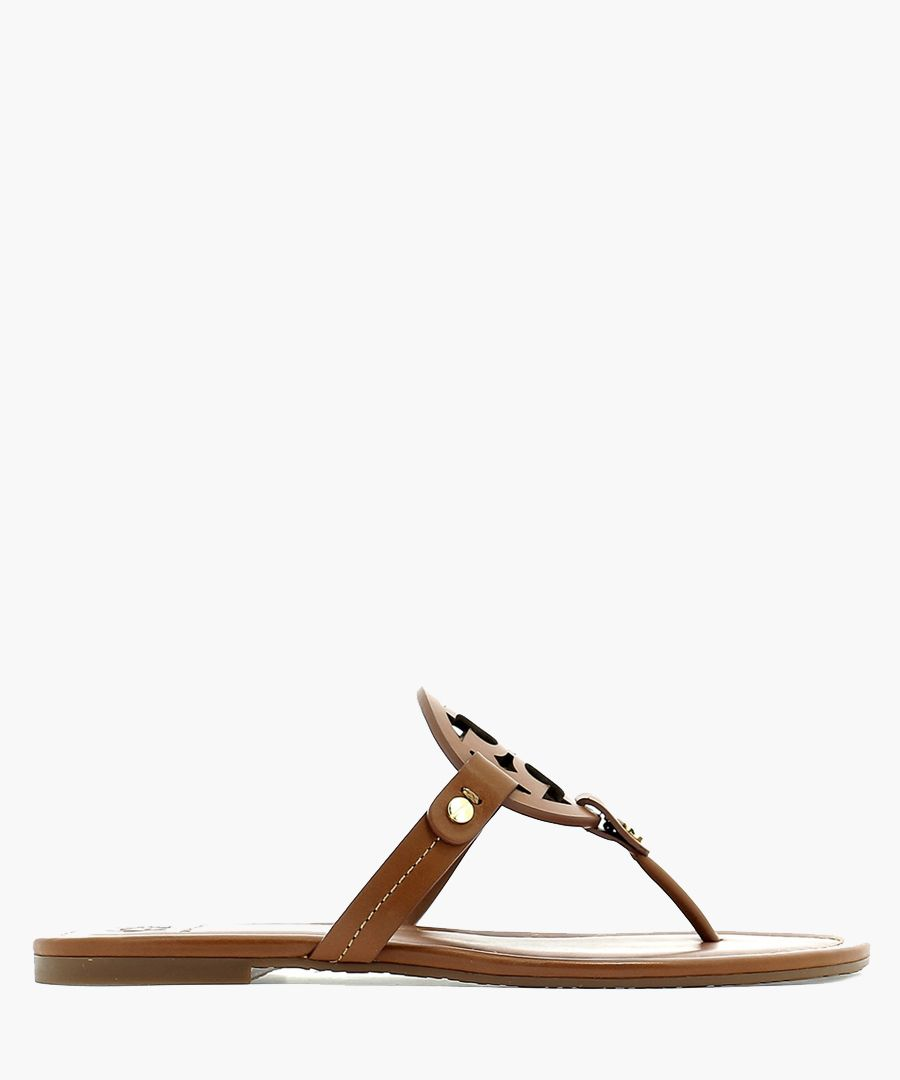 Miller brown leather Y sandals