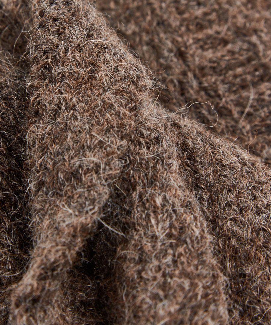 Taupe alpaca blend scarf