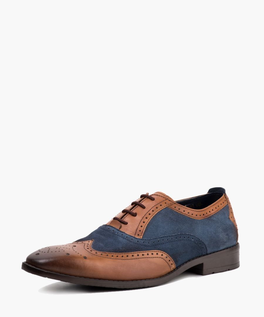 Multi-coloured leather Oxford shoes