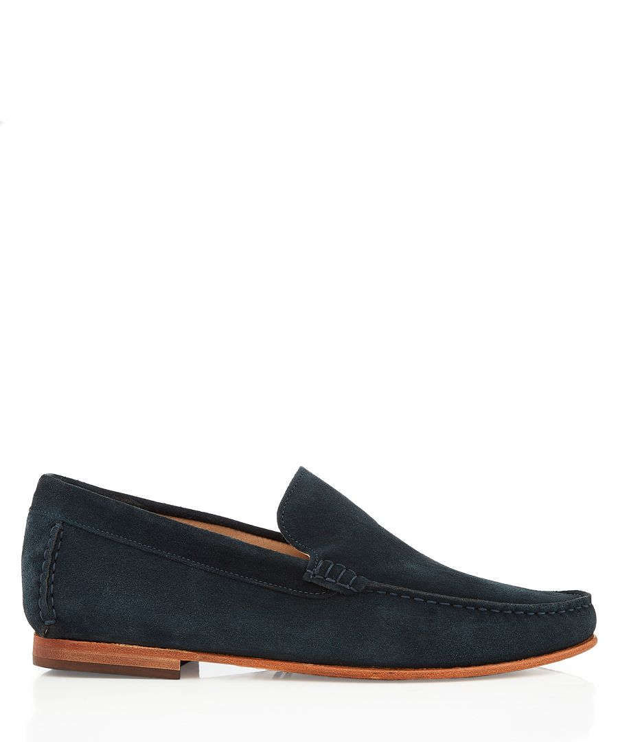Hail navy suede loafers