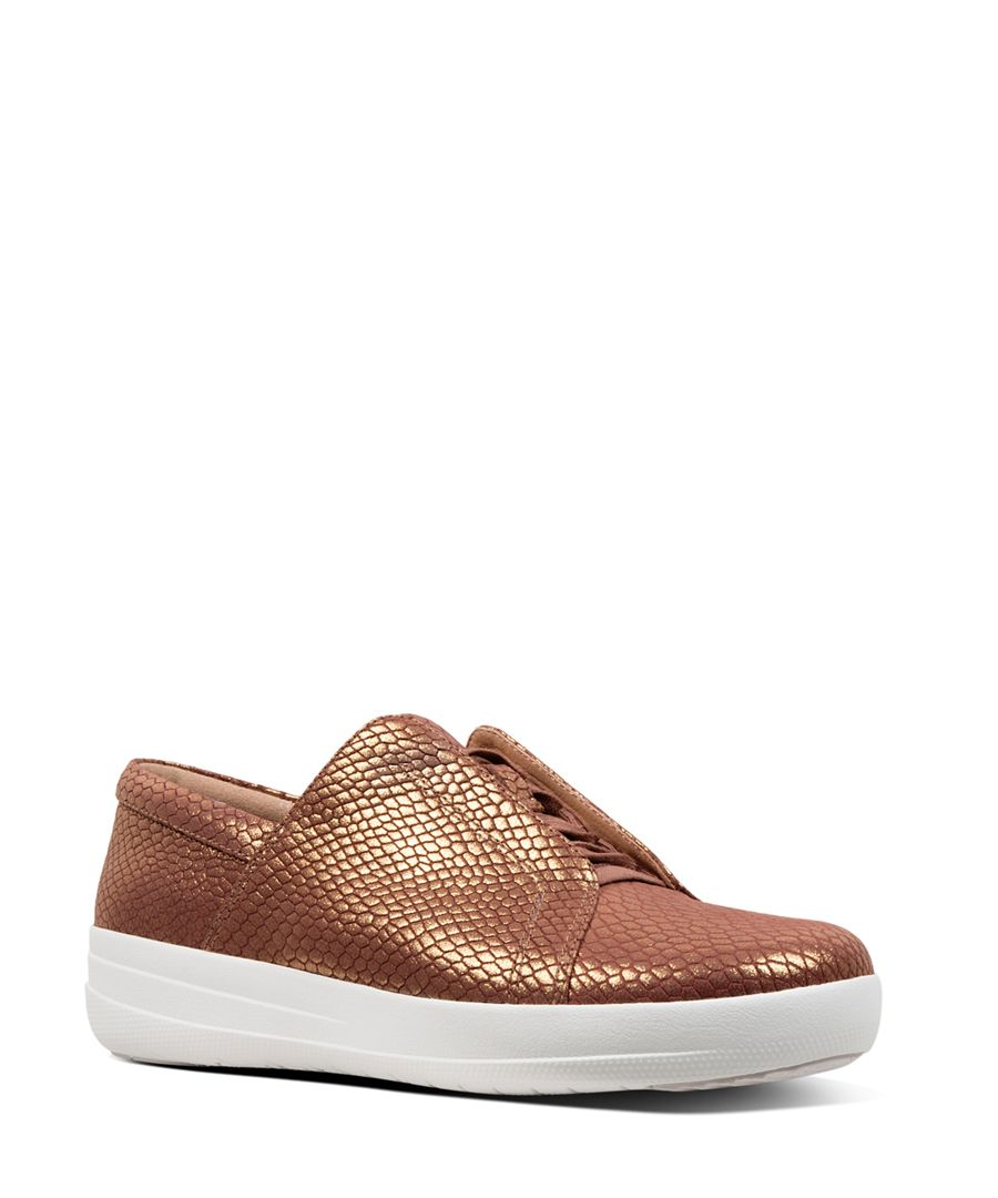 Racine Novelty brown patterned trainers