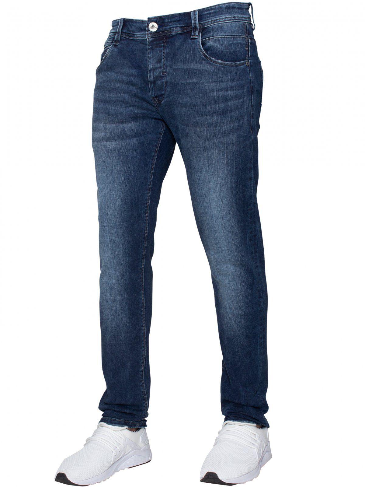 ETO | Mens Designer Basic Hyperstretch Blue Jeans