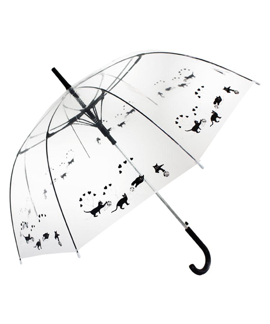Black cats transparent umbrella