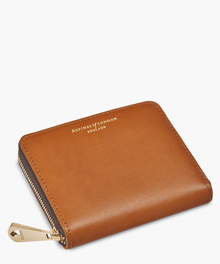 Tan continental purse