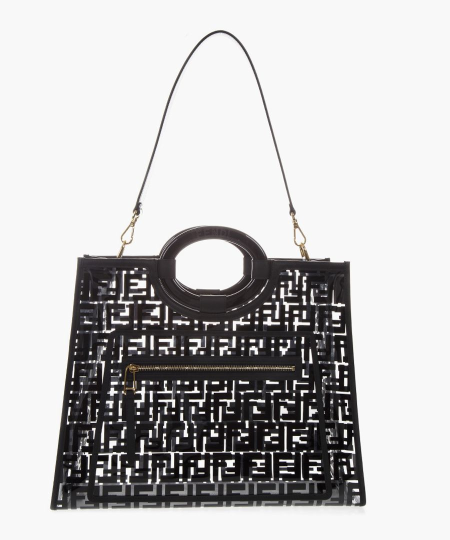 Black runaway shopping bag