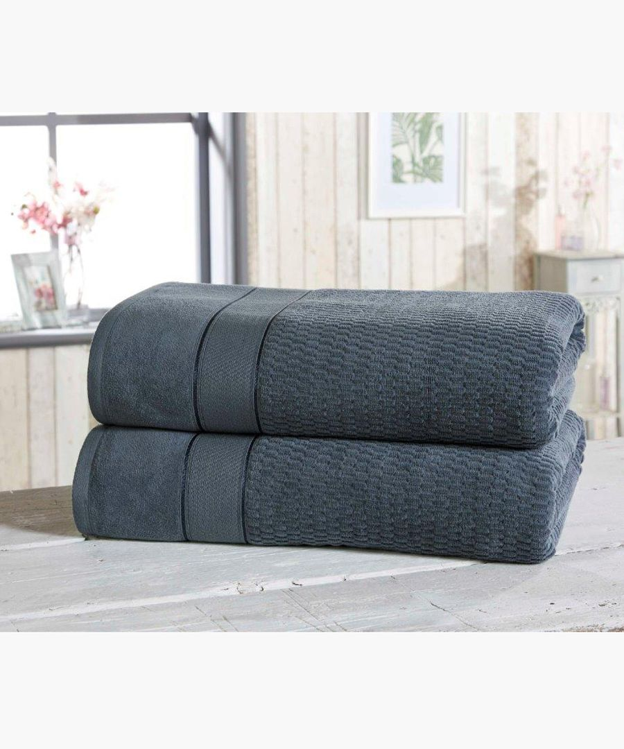 2pc navy cotton towels