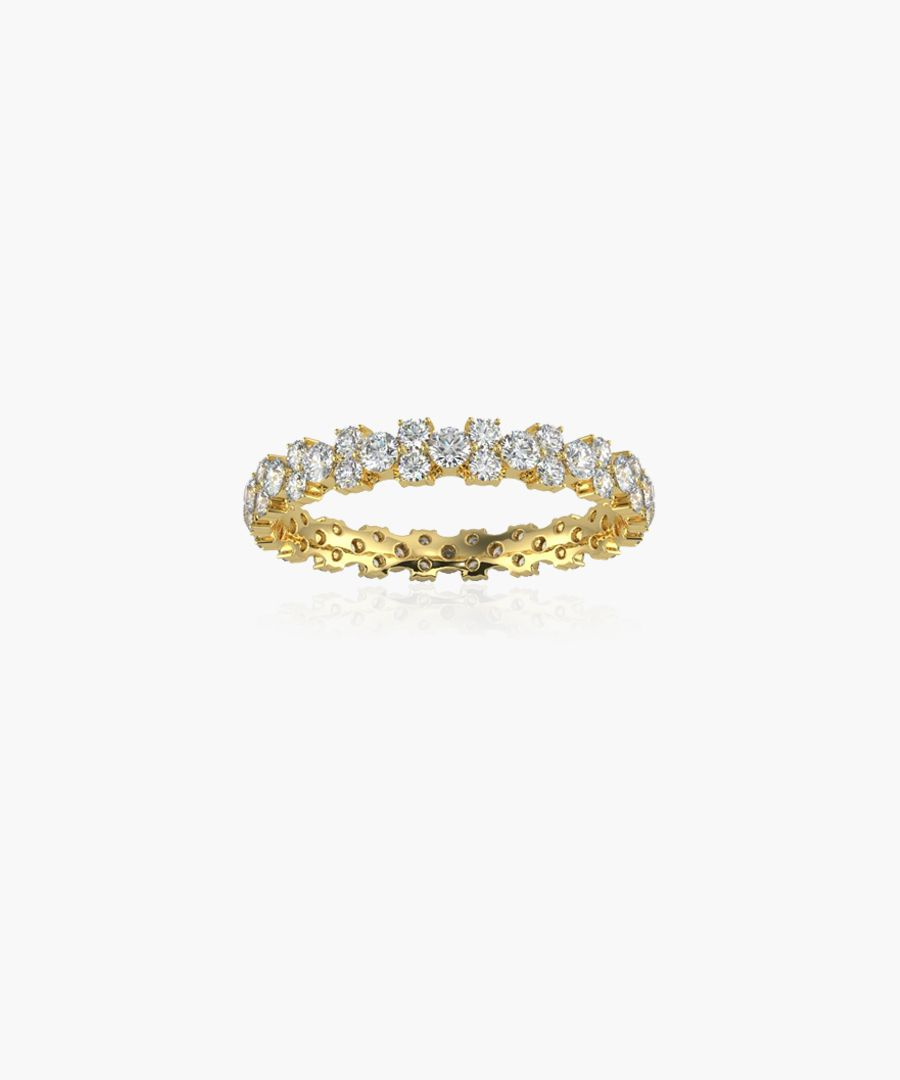 9k yellow gold and 1.00ct diamond eternity ring
