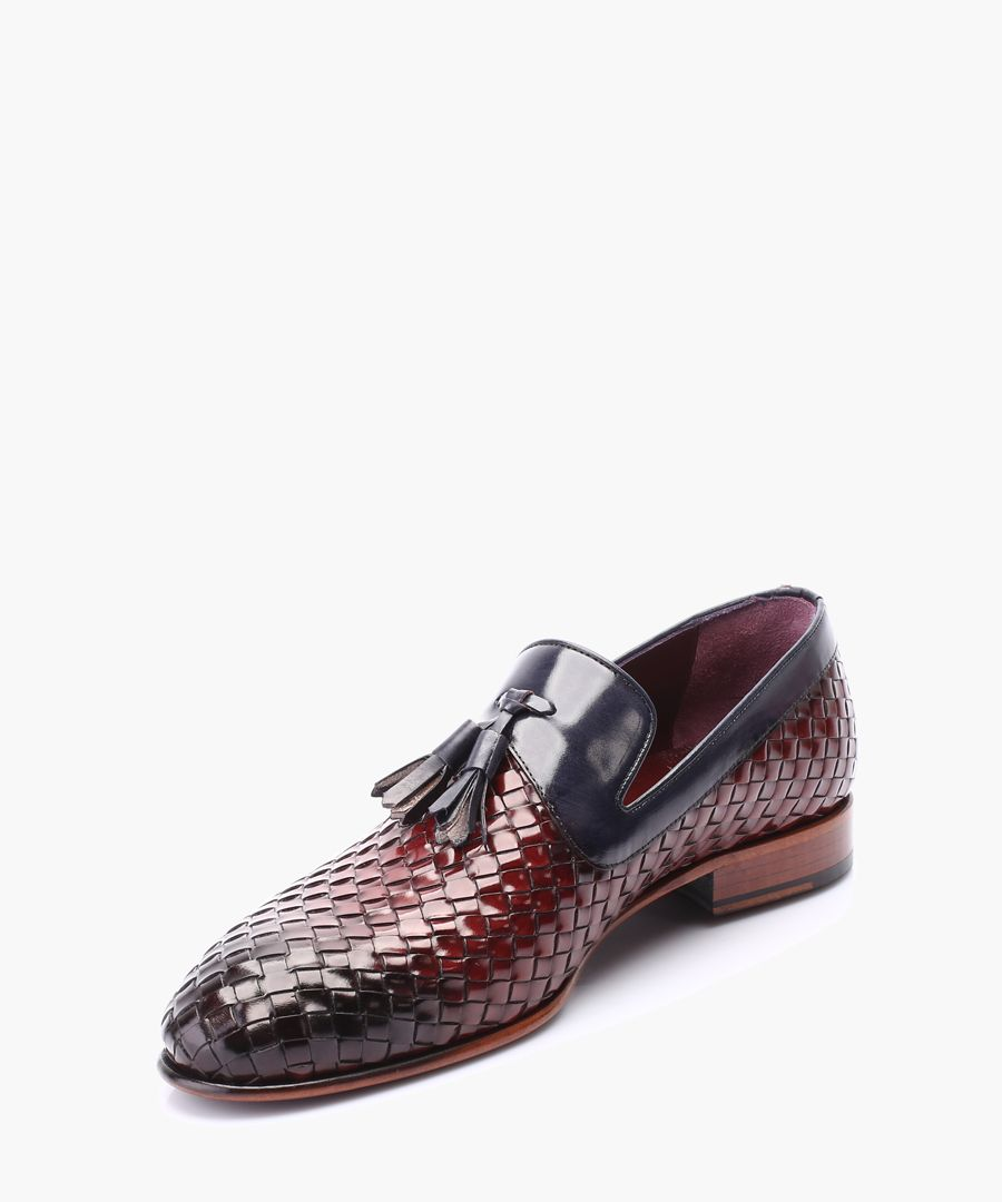 Multi-coloured leather loafers