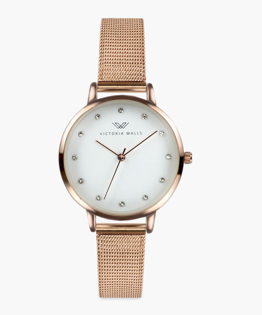 Natali rose gold-plated analogue watch