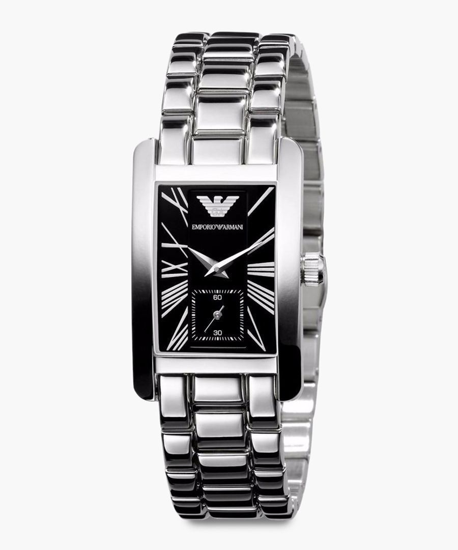 Silver plated stainless steel watch