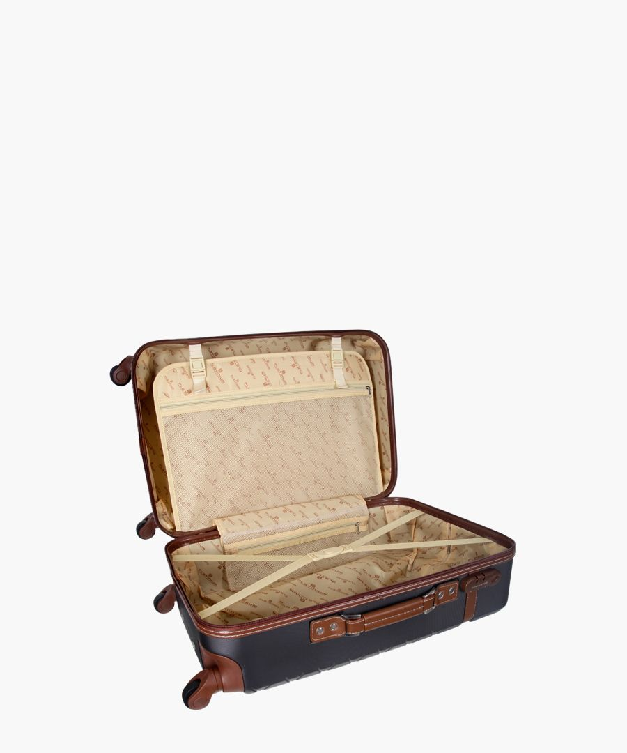 trendy grey cabin suitcase 50cm