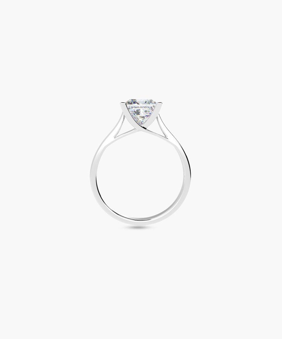 1.00ct princess diamond solitaire ring