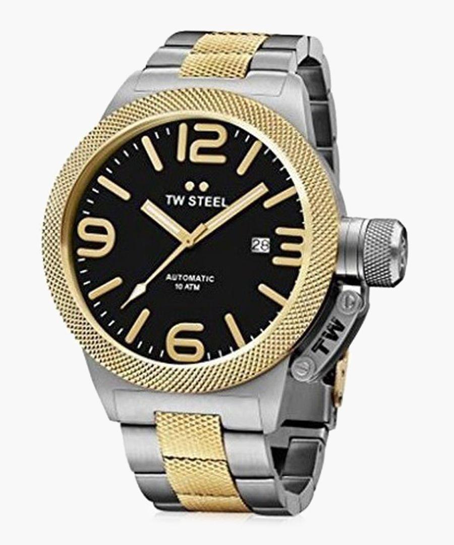 Canteen dual-tone watch
