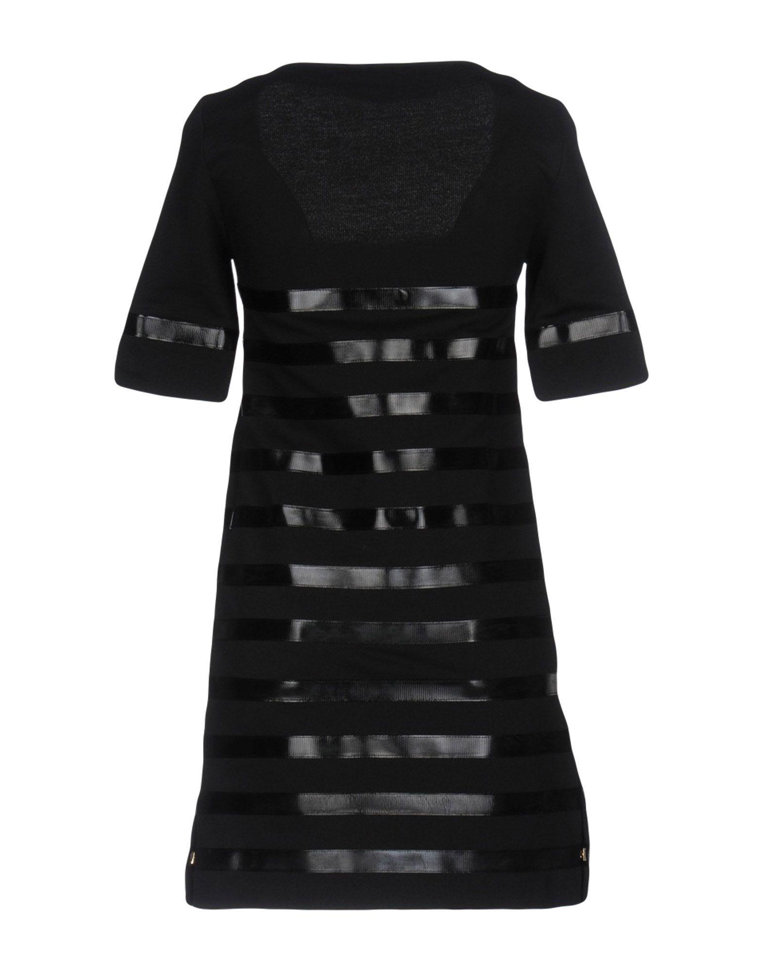 Elisabetta Franchi Jeans Black Cotton Dress